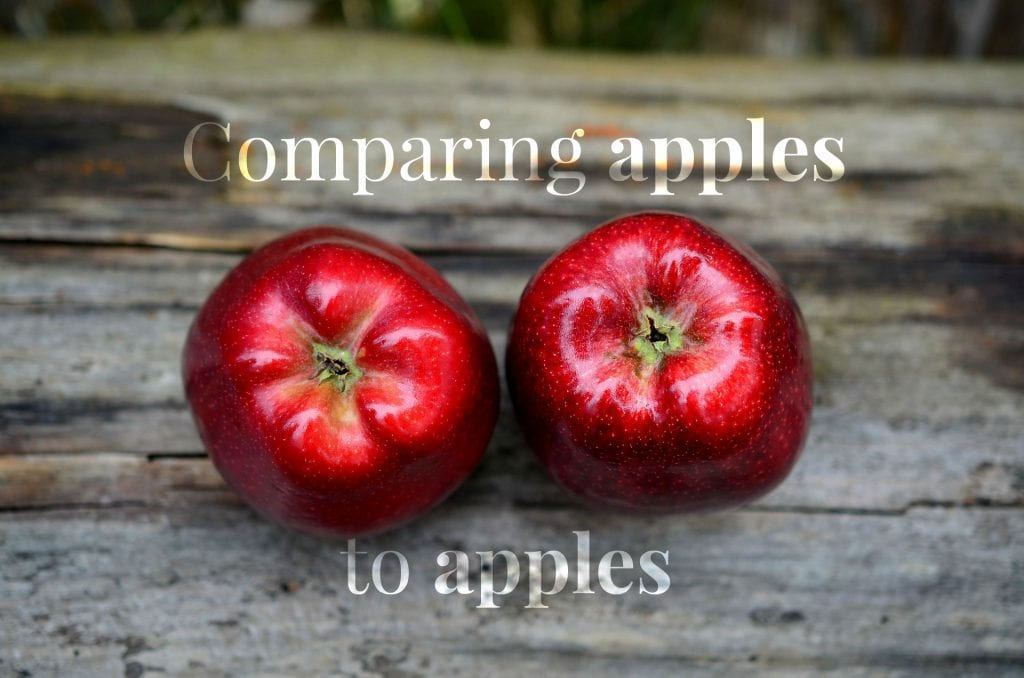 Comparing Apples to Apples