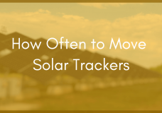 Moving a Solar Tracking System More Than Once Every Hour is Pointless