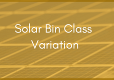 What Solar Bin Class Means for Site Monitoring