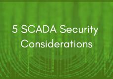 5 SCADA Security Considerations