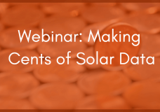 Webinar: Making Cents of Solar Data: How Well Does Your Plant Actually Function