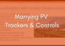 Marrying Trackers & Controls to Squeeze More From Plant Performance