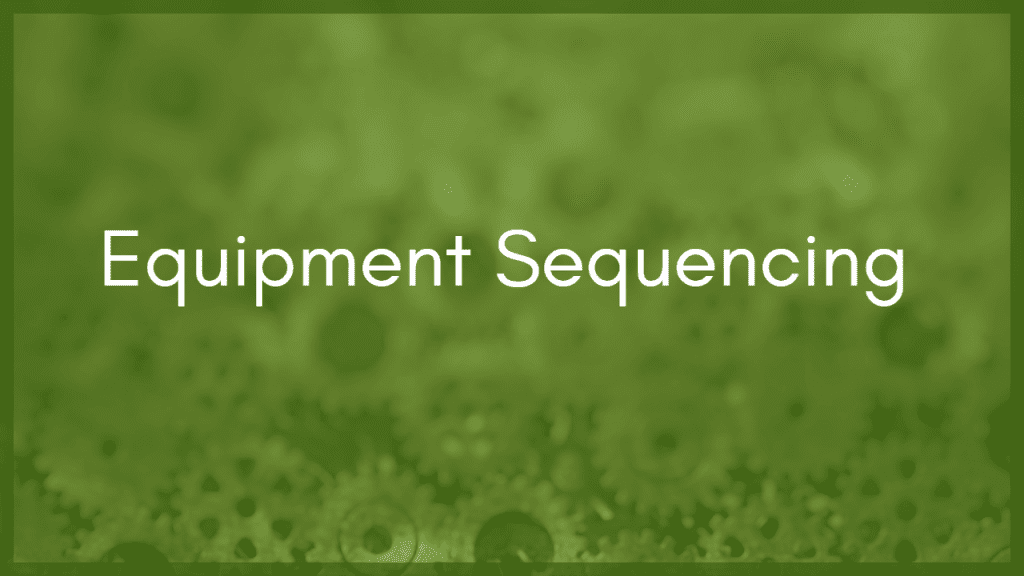 Reducing Energy in Industrial Plants Using Equipment Sequencing