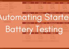 Automatic Generator Starter Battery Testing